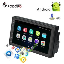 leitor de dvd de carro hyundai Desconto Podofo Android 8.1 2 Din Car DVD rádio Video Player Universal auto Stereo GPS MAP Para Volkswagen Nissan Hyundai Kia toyota CR-V