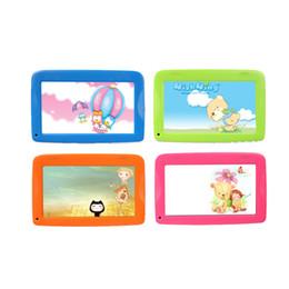 дешевые китайские таблетки, вызывающие wifi Скидка 7 дюймов дети Android таблетки PC WiFi двойная камера подарок для ребенка и детей tablet Pc Bluetooth Wifi ремонт гарантия
