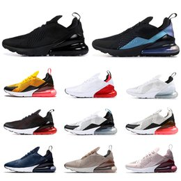2019 nike air max airmax 270 scarpe da corsa per uomo donna triplo nero blu navy BARELY ROSE bianco rosso Tiger LIGHT BONE uomo traspirante sportivo sneakers da uomo da