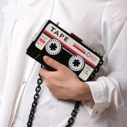 2019 кассетные ящики Женская прозрачная лента кассеты вечер клатч акриловые жесткий Box сцепления акриловые цепи ручной мешок небольшой партии кошелек сумочка дешево кассетные ящики
