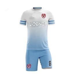 Camisas de futebol vermelhas em branco on-line-Fábrica atacado 4XL crianças camisas de futebol em branco projetos de uniformes de futebol vermelho 2018 uniformes de futebol