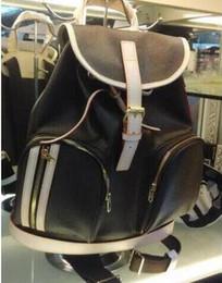 bolsos de cuero marrón vintage Rebajas Nueva mochila para mujer 100% cuero real BOSPHORE Bolsa Diseñador Mochila de gran tamaño Bolso marrón Flor para mujer Bolso Vintage Mochila