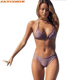 da03f6c96c2 JAYCOSIN Swimwear 2019 New Sexy Women Solid Bandage Sets Swim Fashion Beach Wear  Bathing Suits Female Swimwear Women Two Piece