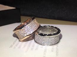 Banda de compromiso de diamantes online-2019 anillo de moda joyería de diseño mujeres anillos de diamantes letras de marca anillos de compromiso mujeres alianzas de boda de diamantes
