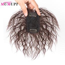 2019 haarteilverschluss MUMUPI Toupee Echthaar Natural Topper Haarteil Top Haarteil Frauen Curly Corn Beard Ersatz-Clip-Verschluss rabatt haarteilverschluss
