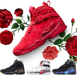 2019 valentinstag schuhe Nike Air Jordan Retro 8 8s Herren-Basketballschuhe VALENTINES DAY AQUA CHROME COUNTDOWN PACK SOUTH BEACH Herren-Sportschuhe rabatt valentinstag schuhe