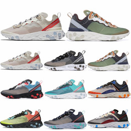 zapatillas marrones Rebajas React Element 87 Zapatillas de correr encubiertas para hombre mujer Royal Tint Antracita Light Orewood Brown Mens Trainer Sports Sneakers 36-45