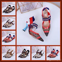 Saltos abertos da correia do dedo do pé on-line-Iduzi Designers Saltos De Pele De Coelho Mulheres Sandálias Abertas Toe Buckle Strap Sapatos de Verão Mulher Sexy Sandalias Mujer