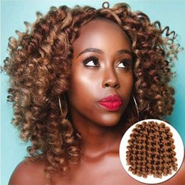 curling wand for hair Promo Codes - 1 Packs jamaican bounce crochet hair Wand Curl Twist Braids 8inch Synthetic Hair Weave for Women 20strands pack Xtrend Hair (30#)
