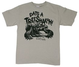 Swamp People History Channel Dats A Treeshakah! T-shirt alligatore per adulti Tshirt in camoscio cheap history leather da pelle di storia fornitori