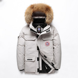 Cuello de piel abrigo hombres 4xl online--40 centígrados por la chaqueta de cuello real de piel con capucha gruesa parka capa de los hombres de invierno chaquetas de invierno más el tamaño 4XL nieve Parka Abrigo SH190929