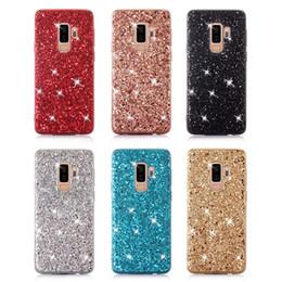 Telefon Kılıfı için Samsung Galaxy S9 Artı Vaka Silikon Bling Glitter Kristal Sequins Yumuşak TPU Kapak Samsung S9 Artı S9 için Fundas nereden