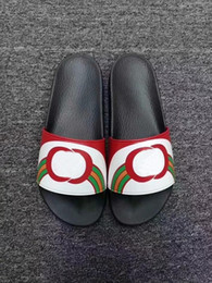 Новый человек мягкий сандал онлайн-2019 новые дизайнерские сандалии класса люкс Cat Tiger bee print Мягкие кожаные резиновые мужские женские сандалии тапочки размер 36-46 с коробкой