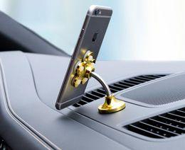 drehbarer handyhalter Rabatt Sauger Ständer Halter Für Handy 360 grad Drehbare Metall Blume doppelseitige Magie Saugnapf Handyhalter Auto Halterung