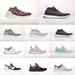 72a53cde006ec (+ Box)Top Quality A+++ Kith Multicolor UB Mid Help Triple Black Ultra 4.0  Running Shoes Men Women Sports Shoes Primeknit Sneaker 36-48