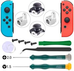 Argentina Reemplazo de la palanca de mando para el interruptor de Nintendo - Paquete de 2 Analog Joystick Joycon Stick analógico para Nintendo Cambiar controlador dispone de Tri-Ala C Suministro