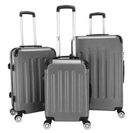 28 чемодан чемоданчика Скидка Багажа 20-дюймовый 24 дюймовый 28 дюймов чемоданы 3 шт расширяемый случай вагонетки ABS обтекатель втулки Hardside камера со встроенным замком универсальный колеса трев