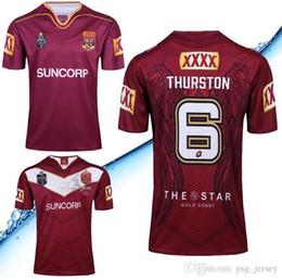 2019 rugby de auckland 2018 2019 NRL Liga Nacional de Rugby Queensland QLD Maroons Malou Camiseta de rugby QLD MAROONS STATE OF ORIGIN Camiseta de rugby