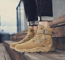 stivale militare Large Size Suede Army Men di Tela Boot Maschio Velvet Retro scarpe di sicurezza Moto stivali da combattimento Mens Soldato Stivali