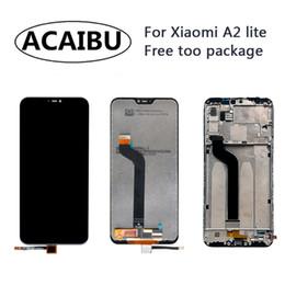 iphone 4s preto Desconto Para Mi A2 Lite LCD Touch Screen digitalizador de exibição Com Frame Assembléia frete grátis substituição redmi 6 Pro