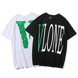 classic shirt new design Promo Codes - 2019 Summer New classic Design Vlone Casual Short Sleeves T-Shirt Hip Hop Large Size Mens T Shirts Fashion Embroidery Mens Womens