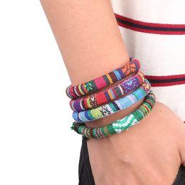 ethnische stammesarmbänder für männer Rabatt Armband im Ethno-Stil 4 Herren- und Damenseil nationales Stammes-Retro-Armband verstellbar