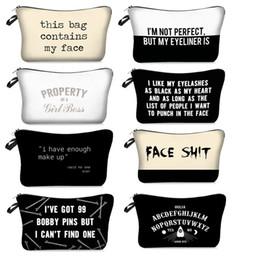 2019 3d geschenk taschen 3D-gedruckten Buchstaben Kosmetiktaschen Diese Tasche enthält My Face-Kulturbeutel-Mädchen-Frauen-Verfassungs-Beutel-Geschenk-Beutel rabatt 3d geschenk taschen