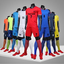 2019 beiläufige hemden männer tasche Fußball-Trikots, maßgeschneiderte Fußball-Shirt, Fußballuniform Herren Jogger Athletic Gym Shirt Casual Jersey Shorts mit Taschen elastische Taille günstig beiläufige hemden männer tasche