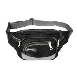 Модный ремень онлайн-Oxford Cloth Waist Fanny Pack Belt Bags Travel Sport Hip Purse Zip For Men Women