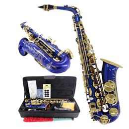 Saxofone colorido on-line-Alto Saxofone E-plana cor azul JAS-804 Jody Blues Marca de Alta qualidade Instrumentos Musicais