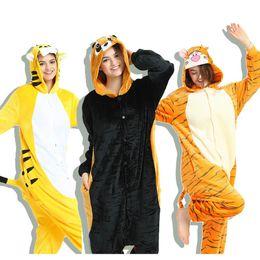 animal onesie adults 2019 - 2018 Adult Unisex Women Men Pajamas Sets Winter  Pijama Onesie Animal 80ce9bc31