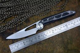 Argentina Cuchillos NOC DG04 440C blade Fibra de carbono Nuevos cuchillos plegables Mango de fibra de carbono con clip de bolsillo para la caza Camping EDC herramientas Regalo de Navidad Suministro