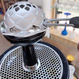 narguilé charbon de bois Promotion Kaloud Lotus Hookah Bowl Système de gestion de la chaleur Porte-charbon de charbon Entonnoir à charbon Brûleur Couverture à vent Accessoire fumeur Amélioration de la shisha longue
