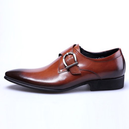 monk formal shoes men Coupons - Men's Dress shoes Formal Men Business casual Oxford Shoes For Men Wedding Dress Brand Leather Double Buckles Shoes