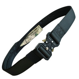 Carteiras escondidas on-line-Multifuncional com zíper carteira Cobra Outdoor Tactical Cintos Carteira de design ocultos dinheiro Nylon Men cinto de alta qualidade táticos
