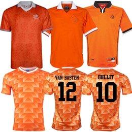 2019 jerseys de epl Retro 1988 Camiseta de fútbol holandesa 88 Van Basten 1997 1998 1994 Holanda Camisetas de fútbol retro BERGKAMP 97 98 99 Gullit Rijkaard DAVIDS