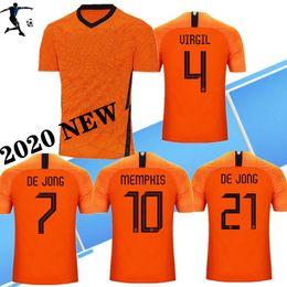 bag gk Sconti S-4XL NUOVO 2020 Paesi Bassi calcio maglie maglia da calcio UEFA Euro DE JONG Olanda van Dijk VIRGIL maglia Strootman MEMPHIS PROMES calcio