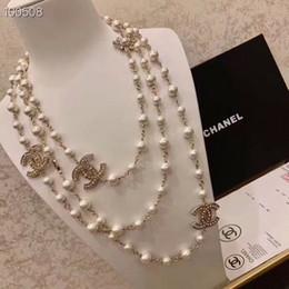Импортировать алмазы онлайн-Brand designer luxury diamond long necklace натуральный жемчуг ожерелье дамы импортированы Кристалл ожерелье 18K золото брошь ювелирные изделия