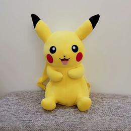 3d geschenk taschen Rabatt 30cm 3D-Anime Pikachu Plüsch-Rucksack Nette Stuffed weiche Puppen Kind-Weihnachtsgeschenk Karikatur-Baby-Snack-Beutel Schultaschen