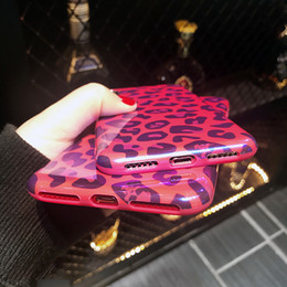 Cubierta de la caja para blu online-Blu-Ray Funda para teléfono con estampado de leopardo sexy para iPhone 6 6S 7 8 Plus X Cool Laser Soft IMD Phone Back Cover Casos