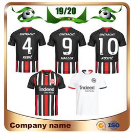 Fußball fußball uniformen online-2019 Eintracht Frankfurt DA COSTA Fußball Trikot 19/20 Frankfurt Heim FERNANDES DE GUZMAN JOVIC Auswärts weiß HALLER KOSTIC Fußball Uniform