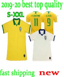 87e635329 2019 2020 camisetas de fútbol de Brasil de primera calidad Copa del mundo  19 20 Jersey de JESUS COUTINHO FIRMINO MARCELO camisetas de fútbol uniforme