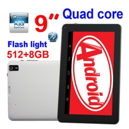 tablette chinoise 64gb Promotion Android 4.4 9 pouces Allwinner A33 Dual Appareils photo Tablet PC Google Flashlight 512 Mo 8GB Bluetooth Wifi cuir retour Livraison gratuite par DHL 30pcs