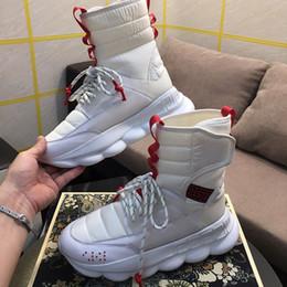 2019 Mens High Top Reaction Chain 2 Sock Boots Womens Fashion Boot Luxury Branded Casual Scarpe da uomo con dimensioni della scatola 35-45 da
