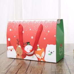 2019 la vigilanza di natale di natale all'ingrosso decorazioni natalizie per la casa festa di favori di Natale confezione regalo rifornimenti all'ingrosso scatola di trasporto del sacchetto regalo vigilia di Natale sconti la vigilanza di natale di natale all'ingrosso