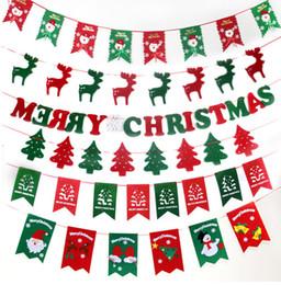 vendita di bandiere di natale Sconti 2018 ins vendita calda Decorazioni natalizie Bandiera natalizia non tessuto Scene del Festival creativo Natale tirare i fiori bandiera decorazione vetrina