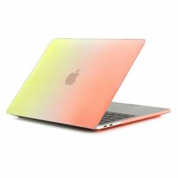 fall macbook regenbogen Rabatt Regenbogen Laptop Fall für Apple Macbook Air 11.6 A1370 / A1465 Abdeckung harte stoßfeste kratzfeste transparente Fälle für Macbook A1370 / A1465