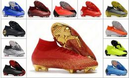 botas de futebol de tamanho 12 Desconto Mens mercurial superfly VI 360 Elite FG KJ 6 XII 12 cr7 Sapatos de futebol de alta 20 botas de futebol Tamanho Cleats 39-45