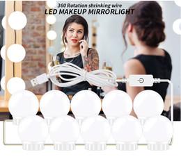 Ensemble de lumières de miroir de style vanité LED de style hollywoodien avec ampoules à intensité variable, bande d'éclairage pour la table de maquillage faite main dans le vestiaire ? partir de fabricateur