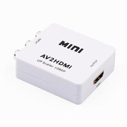 Rca tv vcr online-AV zu HDMI Konverter 1080P AV2HDMI Adapter RCA zu HDMI Mini AV zu HDMI Signal Konverter für TV, VHS VCR, DVD Rekorde